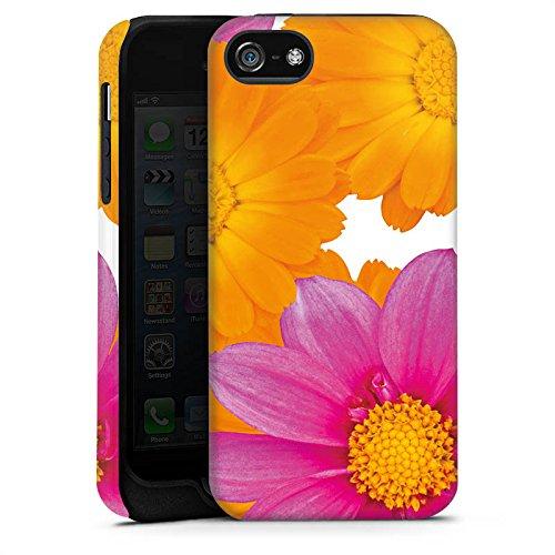 Apple iPhone X Silikon Hülle Case Schutzhülle Blumen Pink Margeriten Tough Case matt