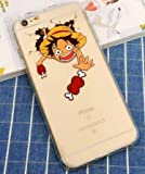 Coquefone Coque iPhone 5 / 5S / Se Luffy One Piece Os Grimace Manga Bande dessinée...