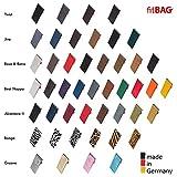 fitBAG Techno Schwarz Handytasche Tasche aus Textil-Stoff mit Microfaserinnenfutter für LG V10 - 6