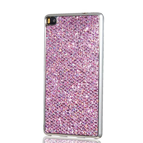 kshop-case-for-huawei-p8-soft-silicone-tpu-purple-glossy-glitter-bling-shining-luxury-protective-cas