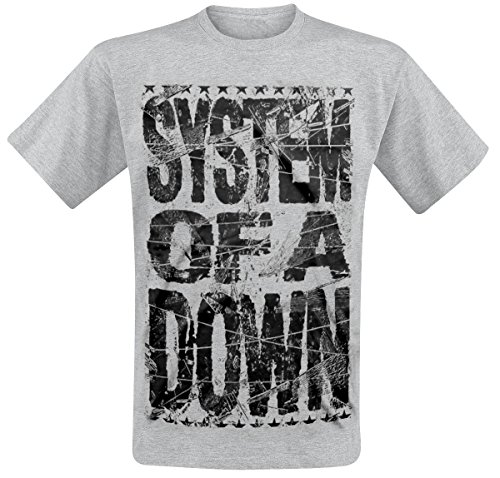 System Of A Down Shattered T-Shirt grigio sport L