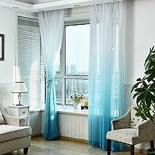 Schienen Gardinen Wohnzimmer Tonsee Schrzen Tll Voile Tr Fenster Gradient Vorhang Tuch Teiler