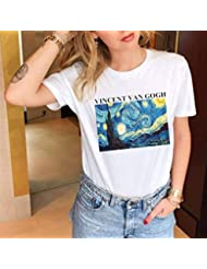 Camisetas Casuales de Verano para Mujeres, Camiseta de Manga Corta Suelta, Cuello Redondo, Top de Camiseta con Estampado Gráfico Simple, Patrón Personalizable, Good dress, Blanco 1#, METRO