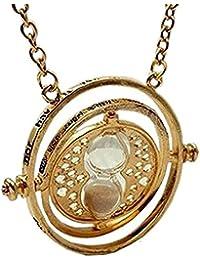 Collar de Hermione giratiempo con reloj de arena, de Harry Potter, giratorio, diseño con inscripción en inglés