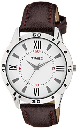 Timex Round Shape Analog White Dial Men's Watch - TW002E113