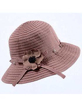 LVLIDAN Sombrero para el sol del verano Dama SolAnti-Sunshine Rosa plegable