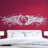 Grandora w1008Sticker Mural cœur Ailes d'ange avec Beaucoup de Page et Douces