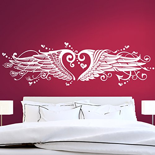 gran-dora-w1008-wall-tattoo-heart-angel-wings-with-hard-and-soft-side-black-bxh-170-x-47-cm