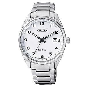 Citizen EO1170-51A Reloj unisex Eco-Drive (Solar) con calendario de acero inoxidable