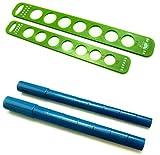Ringmaß & Ringdorn/Mandrel Ringstock Set zum Drahtformen und Ringgröße ermitteln- D=15-21,5 mm