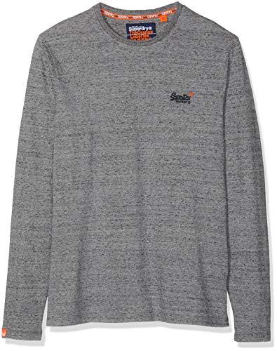 Superdry Herren O L Vintage Embroidery L/S Tee Langarmshirt, Grau (Flint Steel Grit A3Z), XX-Large - Herren-vintage-tee