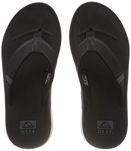 Reef Fanning Low, Chanclas para Hombre, Negro