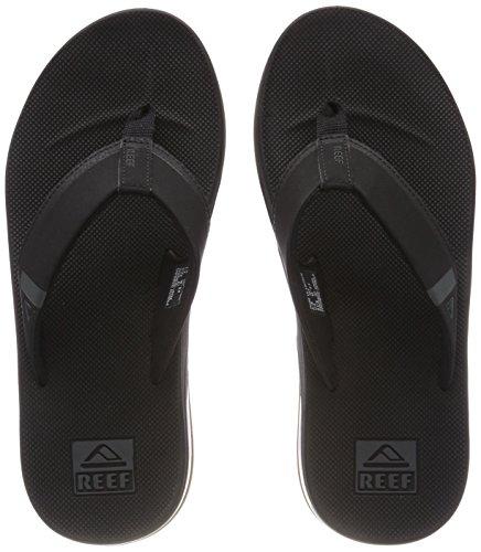 Reef Herren Fanning Low Zehentrenner, Schwarz (Black Bla), 46 EU
