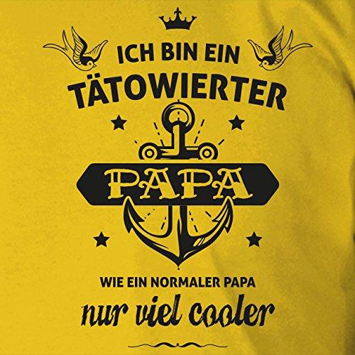 Tätowierter Papa - Stofftasche / Beutel Hellgrün