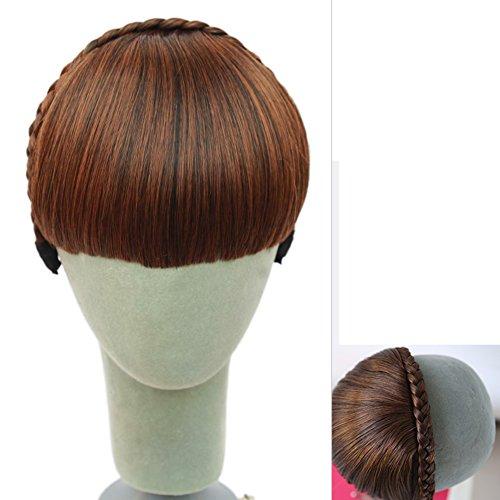 Stirnband gefälschte bangs/Lady bang Kopf Vorhang/Borte Stirnband gefälschte Pony-C (Kostüm Womens Pimp)
