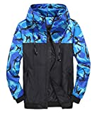 Herren Military Camo Frühlingsjacke Lightweight Bomber Coat Slim Fit