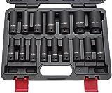 Force-clé à choc - 1/2 '10–32 mm - 16 pièces-jeu de clés à douille-schlagnuss