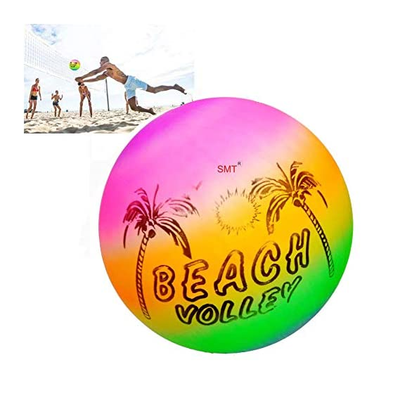 SMT Beach Ball Soft Rainbow Color Inflatable Volleyball Kids Children Game
