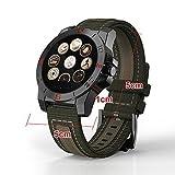 Fitness Tracker Armbanduhr Smart Watch, Bluetooth SmartWatch mit Kamera Touchscreen Wasserdicht Schrittzähler Armbanduhr und Schlafen Monitor Kalorienzähler Smart Band für Kinder Damen Herren, Schwarz/Grün