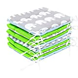 Amilian Bettumrandung Nest Kopfschutz Nestchen 420x30cm, 360x30cm, 180x30 cm Bettnestchen Baby Kantenschutz Bettausstattung MIX A2 (420x30 cm)