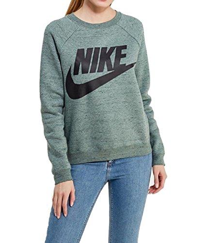 Nike Rally Logo Women Sweater Sweatshirt (green/black, S) (Rally Nike Damen Pullover)