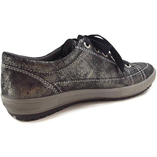 Legero Le scarpe leggere signore scarpa da tennis 6-00820-96 antracite, Gr. 36-43, Exchangeable, larghezza G, pelle grau