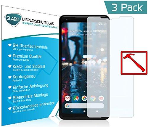 Slabo 3 x Lámina de Vidrio Premium para Google Pixel 2 XL Protectora Protector...