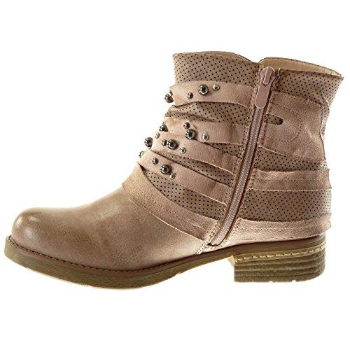 Chillany sandales de bottes en daim - Rose - Rose, 35 EU