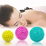 Spiky Massage Ball, 3 Stück Deep Tissue Trigger Point Roller Set – Trigger Point Reflexologie Stress Release – myofasical Ball, Bewegung Massage Ball, Lacrosse Ball, Fuß Massage Ball