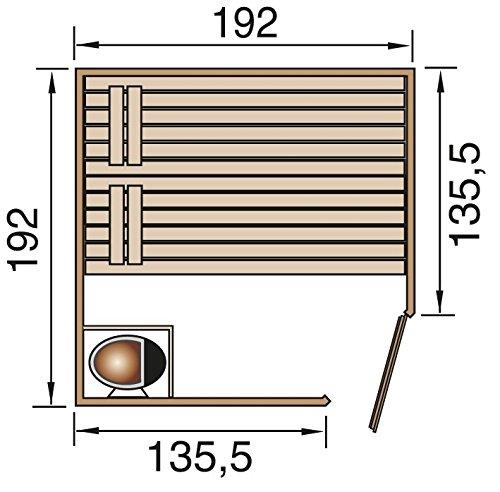 weka Massivholz-Elementsauna 38 mm LAUKKALA 3 GTF Sparset