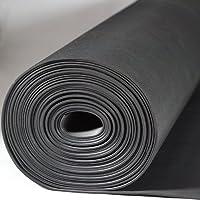 Kabelschutzmatte 0,50 x 10m [Größe wählbar] Stärke: 3 mm | Kabelmatte | Feinriefenmatte| Farbe: SCHWARZ