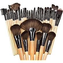 Tenflyer 32 piezas profesional superior suave cepillo cosméticos del maquillaje Kit Mujeres Juegos de Maquillaje + bolso de la caja de la bolsa