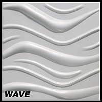 10 m2 pannelli 3d polistirolo parete copertura pannello placca da parete 50x50cm wave