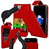 Blackview E7 - Fall Super-Essentials Pack Clamp Frühlings-Art PU-Leder-Mappe + auto Charger - Red