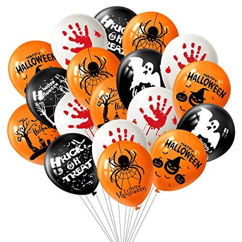 """FEPITO 12 """"Halloween Latex Luftballons 36 Stück Halloween Fun Party Deko Luftballons, 7 Halloween Muster"""