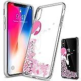 Girlscases® | iPhone XS Max Hülle | Im Blumen-Mädchen Motiv Muster | in rosa pink | Fashion Case Transparente Schutzhülle aus Silikon