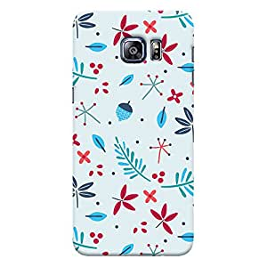 ColourCrust Samsung Galaxy S6 Edge Plus Mobile Phone Back Cover With Floral Pattern - Durable Matte Finish Hard Plastic Slim Case