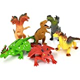Dragon Toys,Rubber Dragons Toys Set 8' With A Gift Box(6 Piece)