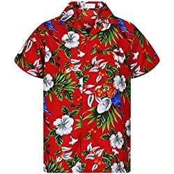 V.H.O. Funky Camisa Hawaiana, CherryParrot, Red, M