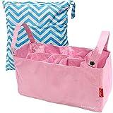 KF Baby Diaper Bag Insert Stroller Organizer, Pink + Wet Dry Bag Value