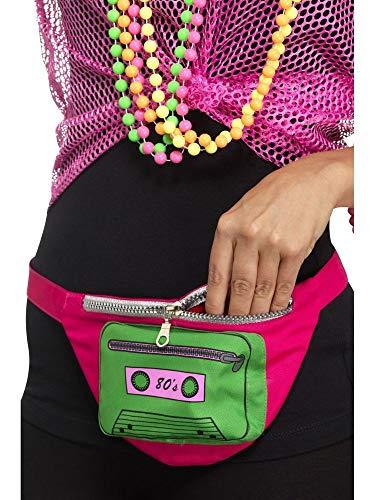 shoperama 80er Jahre Hip Bag Bauchtasche Gürteltasche Kassette Reißverschluss 80's Achtziger Madonna Cindy Lauper Disco Pop Pink - Tasche Von Trash Kostüm