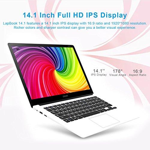 CHUWI - 14.1 Zoll Windows10 Laptop (64Bits, 4GB RAM, 64GB ROM, IntelApolloLakeCeleronN3450, 2.2GHz, QuadCore, BT4.0 External 3G, 1920*1080FullHD IPS, Intel HD Graphics, Wlan) Weiß - 6