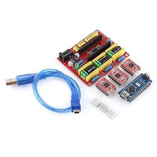 CNC Schild Expansion Board, Graviermaschine A4988 Drive Nano 3.0 Board mit USB Kabel 3D Drucker Kit