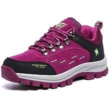 FMCAMEL Botas de senderismo de Piel para mujer man Botas de Senderismo Impermeables de ocio al Aire Libre Zapatos de Deporte Zapatillas de Senderismo cordones Trainer botas 39-47
