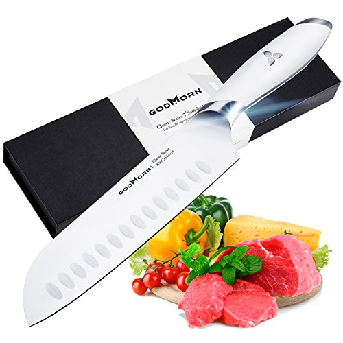 Godmorn Cuchillo Chef,Cuchillos Asiáticos,Cuchillo de Cocina de 7 Pul