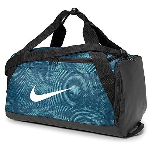 Nike Herren NK BRSLA S duff AOP Duffel Bag, Space blau/schwarz/weiß, One Size (Schwarzer Schuh Mit Weißer Unterseite)
