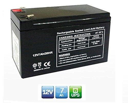 Batteria Ermetica Ricaricabile al Piombo 12V Volt 7Ah ideale per gruppi di continuità UPS Peg Perego sistemi di sicurezza allarmi giochi giocattoli