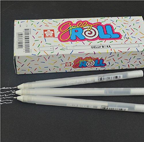 """Sakura, Gel-Stift/Tintenroller """"Gelly Roll"""", mittel, weiß,3er - Gelstift Weißer"""