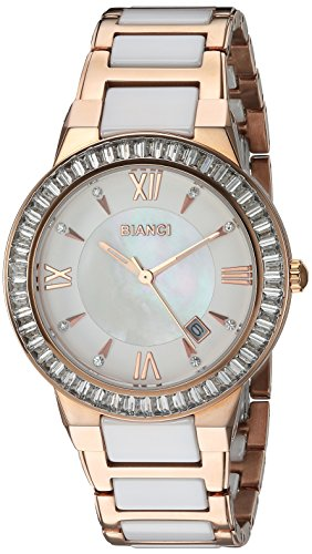 ROBERTO BIANCI WATCHES Women's 'Allegra' Quartz Stainless Steel and Ceramic Casual Watch, Color:Two Tone (Model: RB58721)