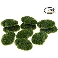 FADACAI 10Stück, künstliche Pflanzen Aquarium Pflanzen/Topfpflanzen.